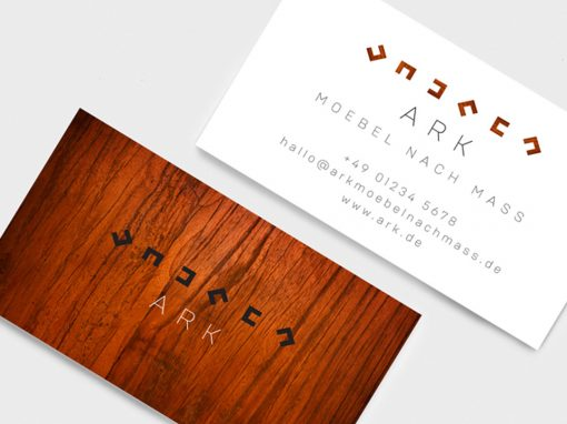 Graphic design for various print media byron bay clear and uncluttered businesscard design ark germany byron bay reheart Image collections